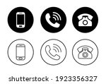 phone icon set. call icon... | Shutterstock .eps vector #1923356327
