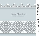 White lace borders with shadow, ornamental paper lines, vector eps10