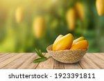 Tropical Mango Fruit In Basket...