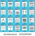 vector set of responsive...