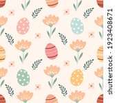 easter seamless pattern with... | Shutterstock .eps vector #1923408671