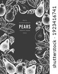 pear design template. hand...   Shutterstock .eps vector #1923416741
