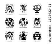 generation z icons set glyph... | Shutterstock .eps vector #1923432431
