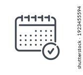 calendar checked line icon....