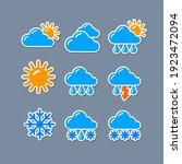 set of weather report forecast... | Shutterstock .eps vector #1923472094