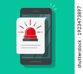 mobile cellular phone alarm... | Shutterstock .eps vector #1923473897