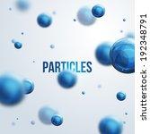 abstract molecules design.... | Shutterstock .eps vector #192348791
