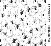 spider vector seamless pattern...   Shutterstock .eps vector #1923502211