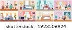 set of illustrations on the... | Shutterstock .eps vector #1923506924