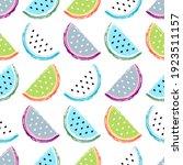 watermelon seamless pattern....   Shutterstock .eps vector #1923511157