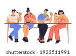 people  men and women  sitting...   Shutterstock .eps vector #1923511991