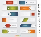 collection of 12 design clean... | Shutterstock .eps vector #192351875