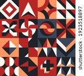 abstract vector geometric... | Shutterstock .eps vector #1923518897