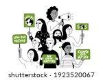 eco activist in the global... | Shutterstock .eps vector #1923520067