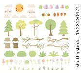 Woodland Landscape Clipart Set  ...