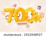 700k or 700000 followers thank... | Shutterstock .eps vector #1923548927