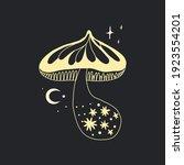 space mushrooms poster. hand... | Shutterstock .eps vector #1923554201