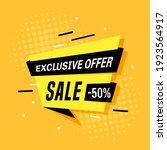 promotional sale banner... | Shutterstock .eps vector #1923564917
