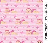 baby girl seamless patterns.... | Shutterstock .eps vector #1923568037