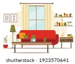 living room interior with... | Shutterstock .eps vector #1923570641