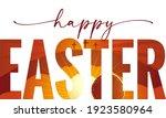 Happy Easter Elegant Lettering...