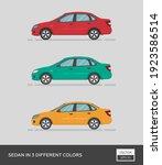 urban vehicle. sedan in 3... | Shutterstock .eps vector #1923586514