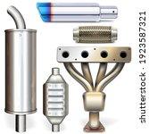 vector car muffler parts... | Shutterstock .eps vector #1923587321