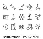set of chemistry flat icons....   Shutterstock .eps vector #1923615041