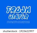 vector blue sign fresh water.... | Shutterstock .eps vector #1923622997