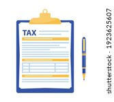 tax form. clipboard with tax... | Shutterstock .eps vector #1923625607