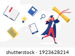 people graduating  education...   Shutterstock .eps vector #1923628214
