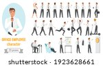 office workers poses... | Shutterstock .eps vector #1923628661