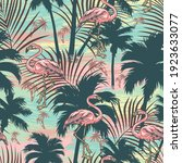 vintage tropical colorful... | Shutterstock .eps vector #1923633077
