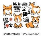 cute set of cartoon animals... | Shutterstock .eps vector #1923634364