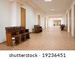 hospital  corridor at evening... | Shutterstock . vector #19236451