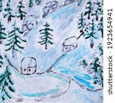 Winter Snowy Village Houses....