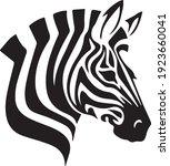 Zebra Head Logo Vector...