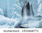 Winter Landscape Of A Cascade...