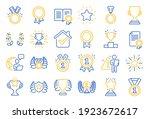 award line icons. set of winner ... | Shutterstock .eps vector #1923672617