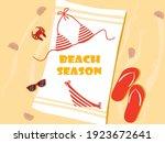 beach season in the sand... | Shutterstock .eps vector #1923672641