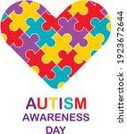 autism awareness month.... | Shutterstock .eps vector #1923672644