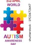 autism awareness month. ... | Shutterstock .eps vector #1923672647