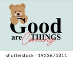 good things are coming message...   Shutterstock .eps vector #1923675311