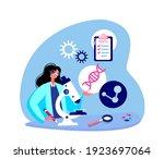 female scientist in lab coat ... | Shutterstock .eps vector #1923697064