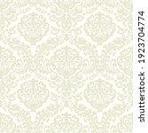 damask seamless vector pattern. ... | Shutterstock .eps vector #1923704774