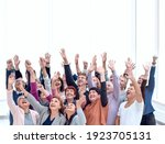 a group of older people raised... | Shutterstock . vector #1923705131