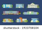 municipal buildings set....   Shutterstock .eps vector #1923708104