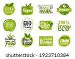 set of eco friendly green... | Shutterstock .eps vector #1923710384