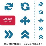 arrows icons. professional ... | Shutterstock .eps vector #1923756857
