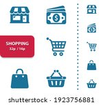 shopping  retail icons.... | Shutterstock .eps vector #1923756881